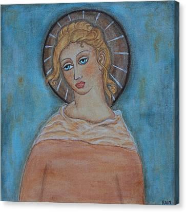 Sacred Angel Canvas Print by Rain Ririn