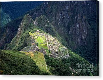 Sacred City Of Machu Picchu Canvas Print by James Brunker