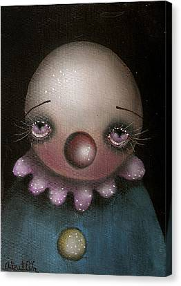 Sad Clown Canvas Print by  Abril Andrade Griffith