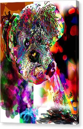 Sad Dog Canvas Print by James Thomas