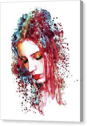 Sad Woman Canvas Print by Marian Voicu