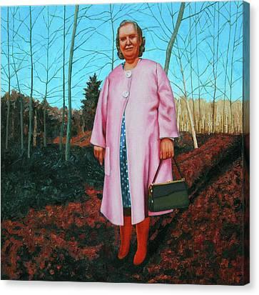 Sadie In Pink Canvas Print by Allan OMarra