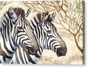 Safari Sunrise Canvas Print by Mauro DeVereaux