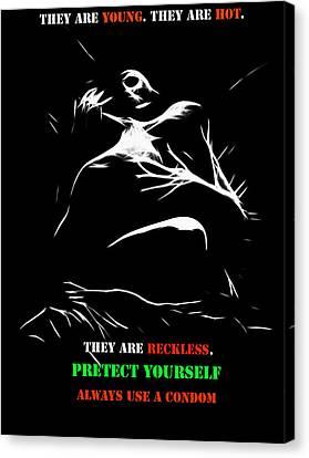 Safer Sex 3 Canvas Print by Steve K
