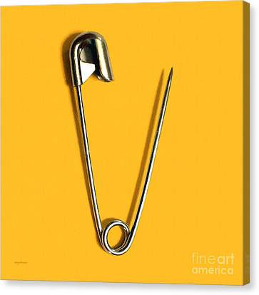 Safety Pin Pop Art 20161112-0 Canvas Print by Wingsdomain Art and Photography