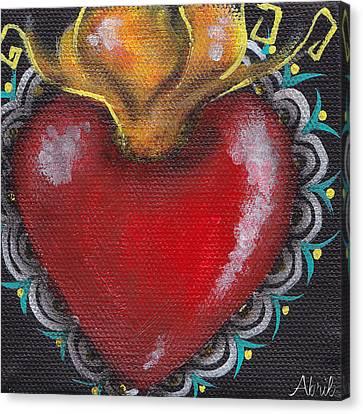 Sagrado Corazon 1 Canvas Print by  Abril Andrade Griffith