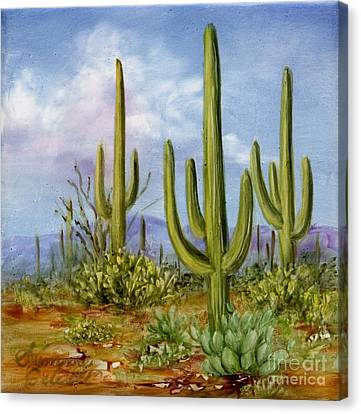 Saguaro Scene 1 Canvas Print by Summer Celeste