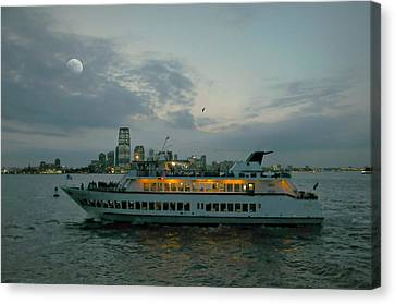 Sail In The Night Canvas Print by Diana Angstadt