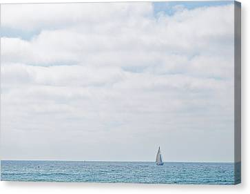 Sail On Blue Canvas Print by Peter Tellone