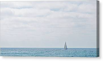 Sail On Blue - Widescreen Canvas Print by Peter Tellone