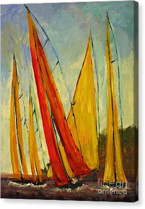 Sailboat Studies 2 Canvas Print by Julie Lueders