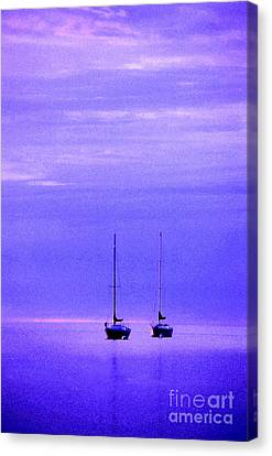 Sailboats In Blue Canvas Print by Timothy Johnson