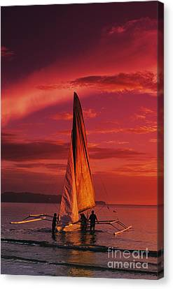 Sailing, Boracay Island Canvas Print by William Waterfall - Printscapes