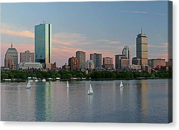 Sailing Boston Canvas Print by Juergen Roth