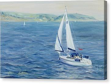 Sailing Home Canvas Print by Antonia Myatt