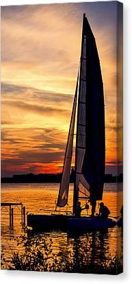 Sailing - Lake Monona - Madison - Wisconsin Canvas Print by Steven Ralser