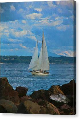 Sailing On A Summer Day Canvas Print by Dan Sproul