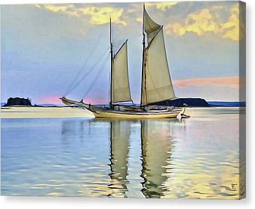 Sailing Sailin Away Yay Yay Yay Canvas Print by  Fli Art