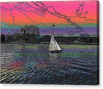 Sailing South Lake Union Canvas Print by Tim Allen