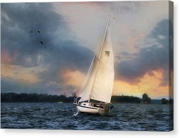 Sailing The St. Lawrence Canvas Print by Lori Deiter