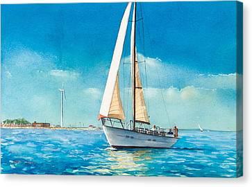 Sailing Through The Gut Canvas Print by Laura Lee Zanghetti