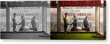 Sailor - Welcome Sailor 1908 - Side By Side Canvas Print by Mike Savad