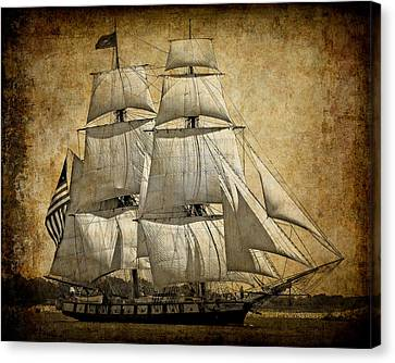 Sails Full And By Canvas Print by Daniel Hagerman