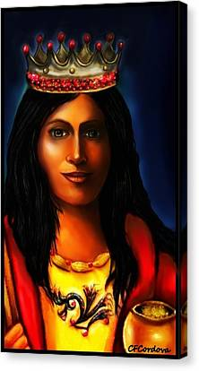 Saint Barbara Canvas Print by Carmen Cordova