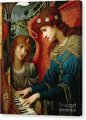 Saint Cecilia Canvas Print by John Melhuish Strukdwic