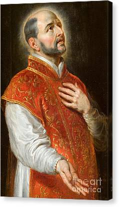 Saint Ignatius Canvas Print by Peter Paul Rubens
