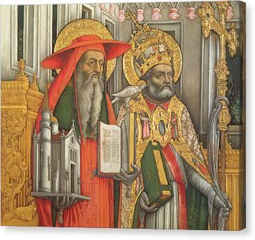 Saint Jerome And Saint Gregory Canvas Print by Antonio Vivarini