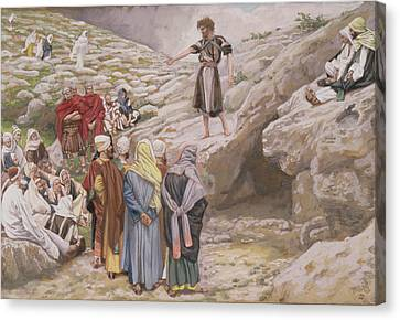 Saint John The Baptist And The Pharisees Canvas Print by Tissot