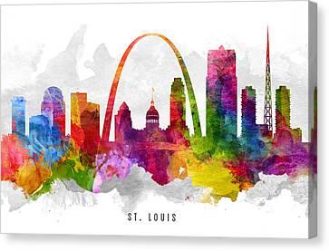 Saint Louis Missouri Cityscape 13 Canvas Print by Aged Pixel