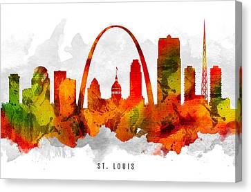 Saint Louis Missouri Cityscape 15 Canvas Print by Aged Pixel