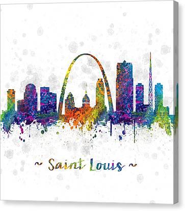 Saint Louis Missouri Color 03sq Canvas Print by Aged Pixel