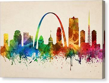 Saint Louis Missouri Skyline 05 Canvas Print by Aged Pixel