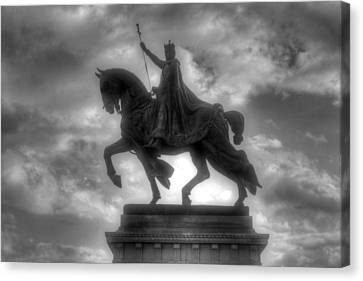 Saint Louis Statue Art Museum Forest Park Canvas Print by Jane Linders