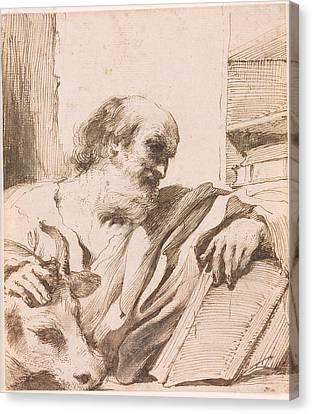 Saint Luke Canvas Print by Giovanni Francesco