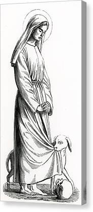 Saint Margaret Of Cortona Canvas Print by French School
