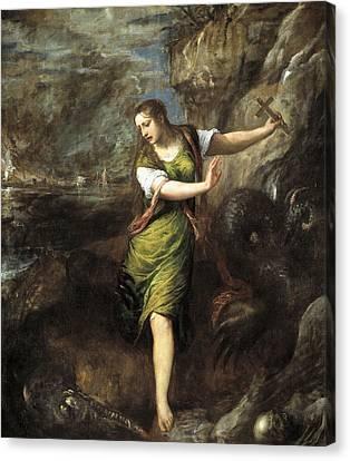 Saint Margaret  Canvas Print by Titian