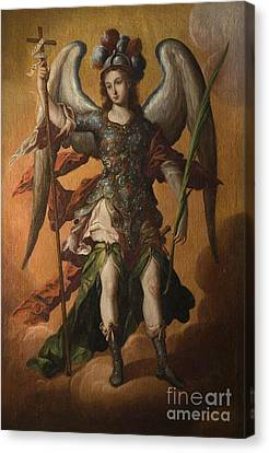Saint Michael The Archangel Canvas Print by Celestial Images