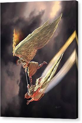 Saint Michael The Archangel Canvas Print by Dave Luebbert