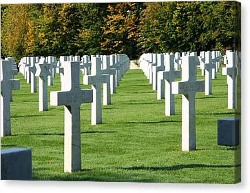 Canvas Print featuring the photograph Saint Mihiel American Cemetery by Travel Pics