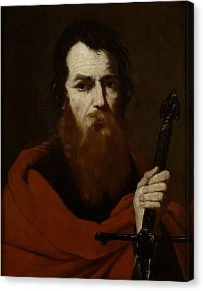 Saint Paul  Canvas Print by Jusepe de Ribera