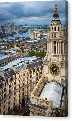 Saint Paul's Cathedral View Canvas Print by Inge Johnsson