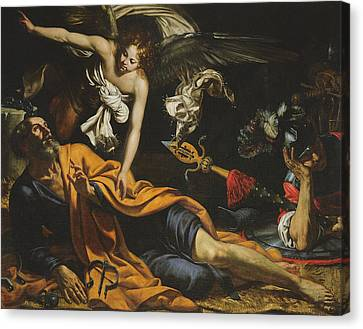 Saint Peter Incarcerated Canvas Print by Giovanni Francesco Guerrieri