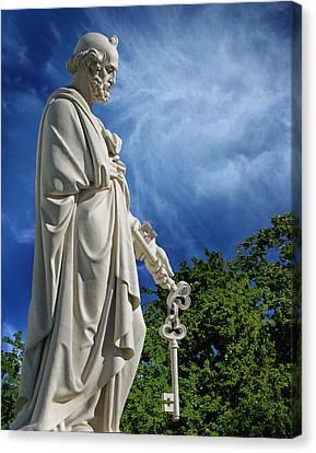 Saint Peter With Keys To Heaven Canvas Print by Peter Piatt