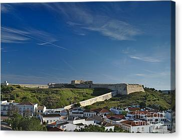Saint Sebastian Fort And Roofs In Portugal Canvas Print by Angelo DeVal