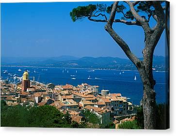 Saint-tropez - Provence Canvas Print by Martial Colomb
