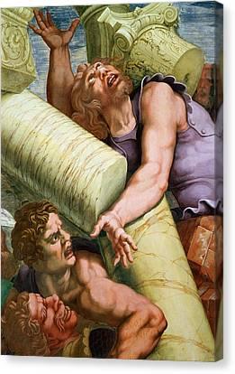 Sala Dei Giganti Canvas Print by Giulio Romano